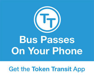 token app ad says bus passes on your phone get the app